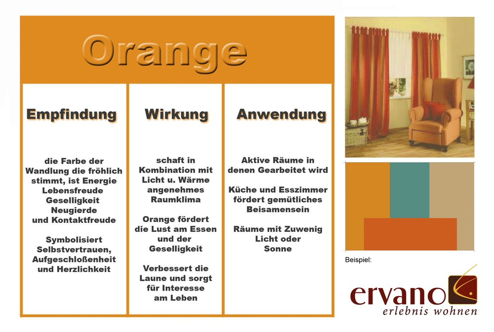 passende farben zu orange ostseesuche com. Black Bedroom Furniture Sets. Home Design Ideas